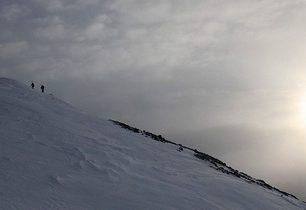 Neděle 13. ledna na skialpech na Col Bechei de Sora (2794 m) v Dolomitech
