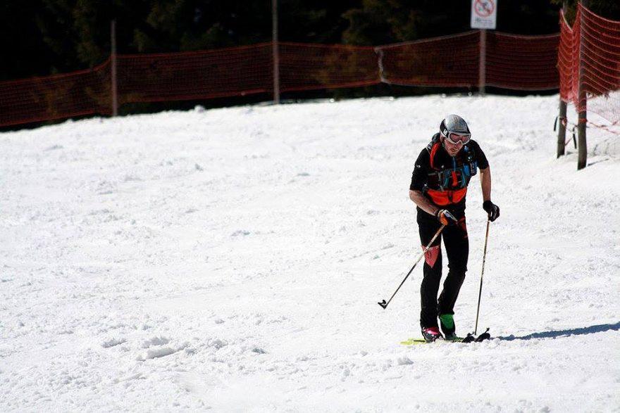 Michal v posledním kopci na Lysou horu