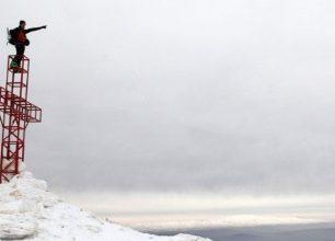 Skialpinistická túra v Libanonu přes Dóme du Mzaar na Sannine (2564 m)