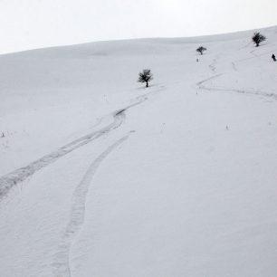 Níže nebyl sníh úplně ideální
