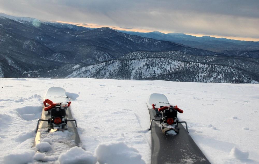 Výhledy na typické sibiřské menší kopce