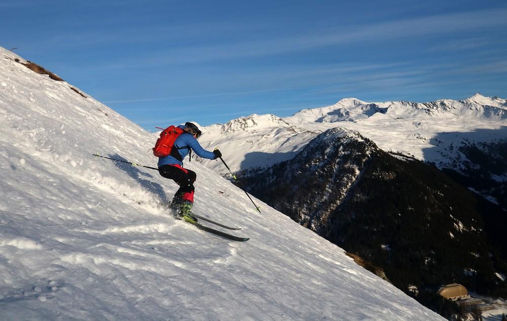 Volné terény nad Davosem